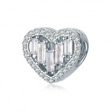 Sterling silver charm Love heart