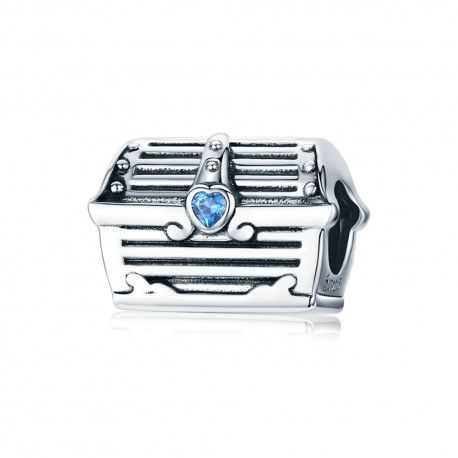 Sterling silver charm Treasure chest