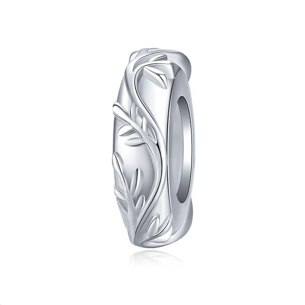 Sterling silver stopper Vine leaf