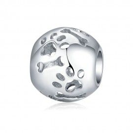 Sterling silver charm Pets' footprint