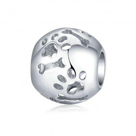 Sterling silver charm Pets' footprint
