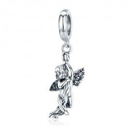 Sterling silver pendant charm Cupid