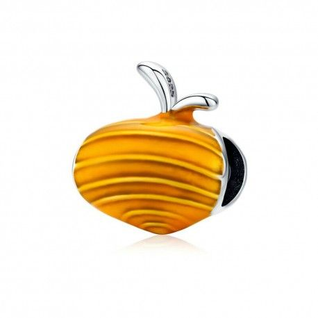 Sterling silver charm Carrot