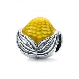 Sterling silver charm Corn
