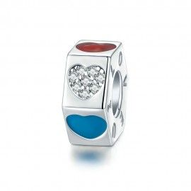 Sterling silver stopper Tricolor