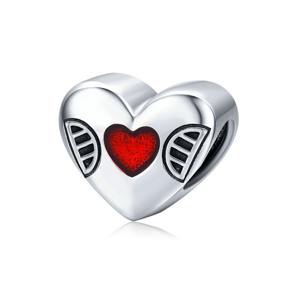 Sterling silver charm Open your heart