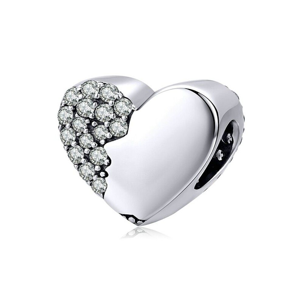Sterling silver charm Lover's heart