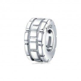 Sterling silver charm Plaid