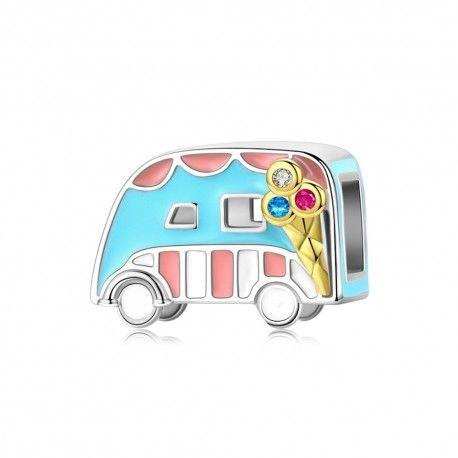 Sterling silver charm Ice cream van