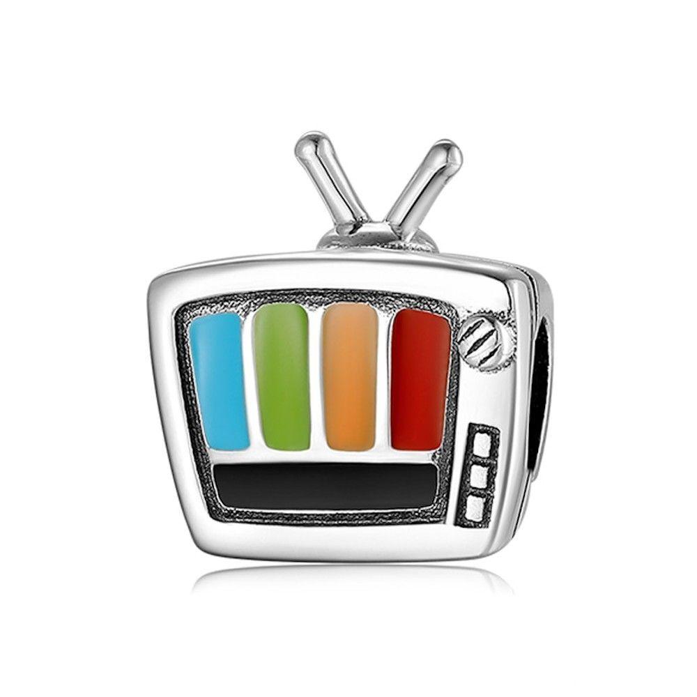 Sterling Silber Charm Cartoon-Fernsehen