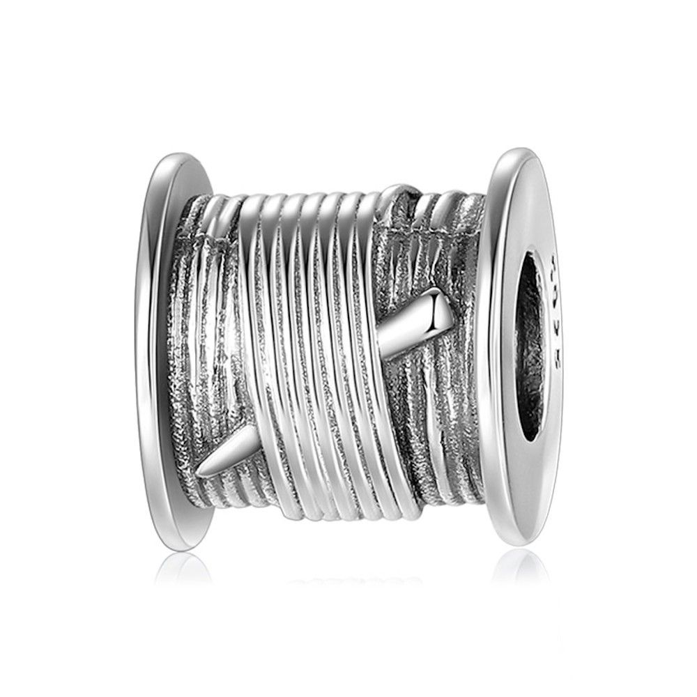Sterling silver charm Sewing thread