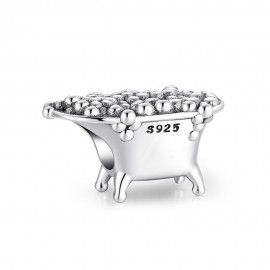 Sterling silver charm Bathtub