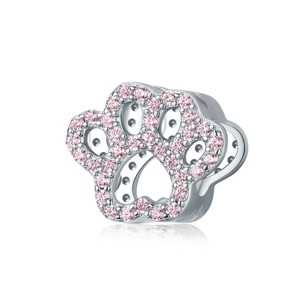 Sterling silver charm Cat paw
