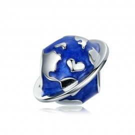 Sterling silver charm Earth