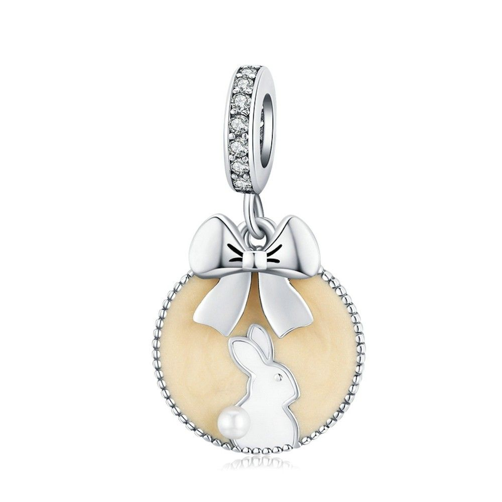 Sterling silver pendant charm Magic forest