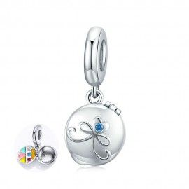 Sterling silver pendant charm Cosmetic box