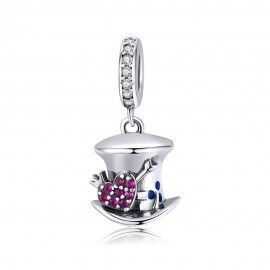 Sterling silver pendant charm Magical hat