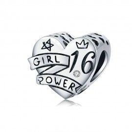 Sterling silver charm Girl power 16