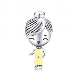 Sterling silver charm Mom