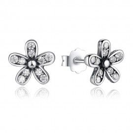 Silver earrings Daisy