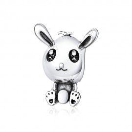 Zilveren bedel Paas konijn