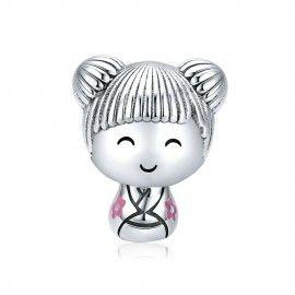 Zilveren bedel Japanse pop