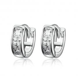 Silver earrings Cubic zirconia