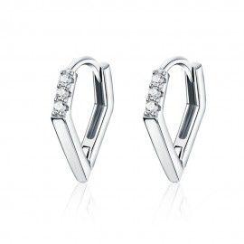 Zilveren oorbellen V-vorm