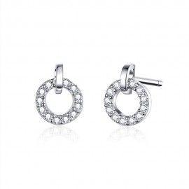 Silver earrings Round