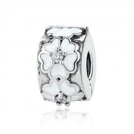 Clip in argento margherita