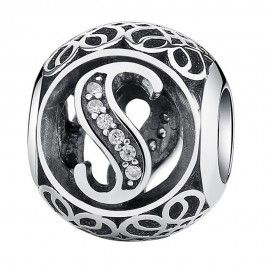 Charm in argento lettera S...