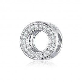 Zilveren bedel Elegante ring