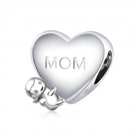 Sterling silver charm Mom I...