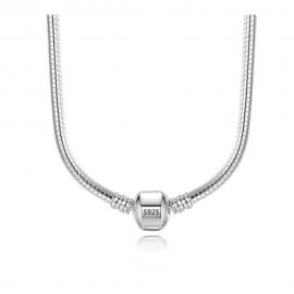 Sterling zilveren halsketting voor bedels