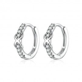 Silver earrings Infinity