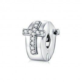 Sterling silver clip Cross
