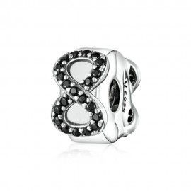 Sterling silver clip Infinity