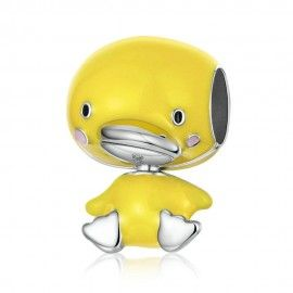 Sterling silver charm Yellow duck