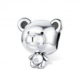Sterling silver charm Toy bear