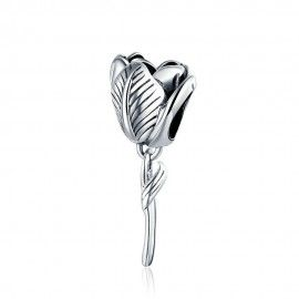 Sterling silver charm Tulip