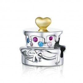Sterling silver charm Wedding cake