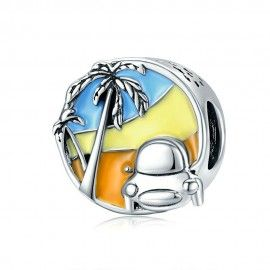 Sterling silver charm Have a good trip!
