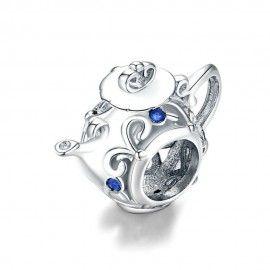 Sterling silver charm Teapot