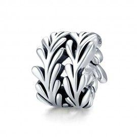 Sterling silver charm Seaweed