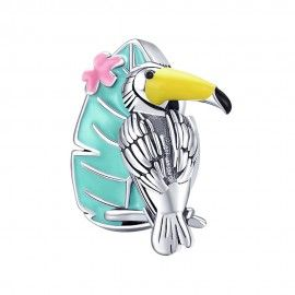 Sterling silver charm Toucan