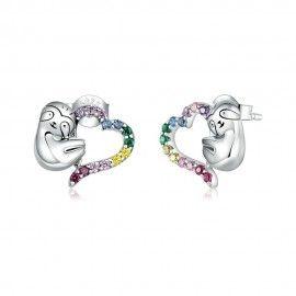 Silver earrings Lazy sloth
