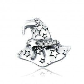 Charm in argento Cappello da strega di Halloween