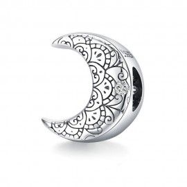 Sterling silver charm Moon