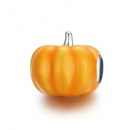 Sterling silver charm Cute pumpkin