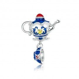 Sterling silver pendant charm Magic teapot
